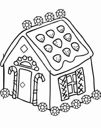 Gingerbread Coloring Pages Candy Christmas Printable Colouring