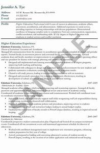 Coordinator Resume Examples Sample Resume Higher Education Professional Done By