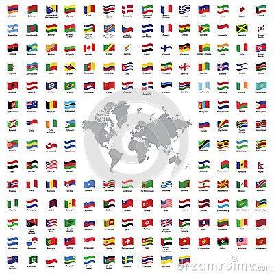 Carte Du Monde à Gratter Avec Drapeau by Drapeaux De Pays Illustration De Vecteur Image 46757622