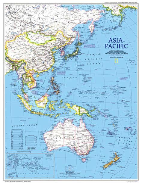 asia pacific map  mapscom