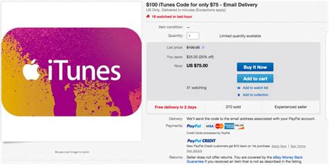 toys 100 us itunes gift card instant email delivered 75 shipped from paypal ebay 25