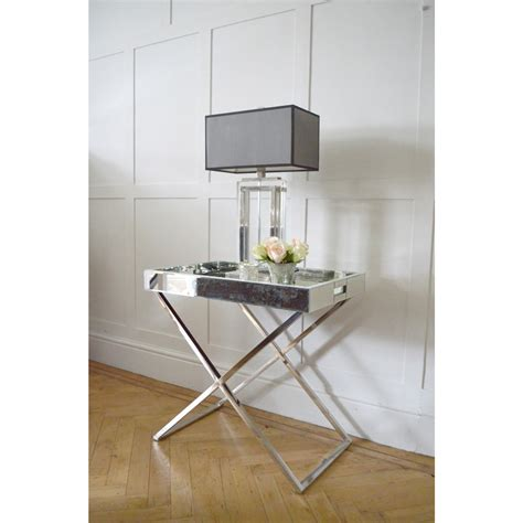 Frenchies Glamour Mirrored Side Table  Side Tables