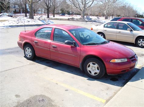 Car For Sale! 1997 Red Dodge Stratus- Good & Clean
