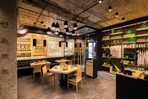 burger an industrial restaurant design adorable home