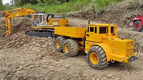 rc heavy construction zone   tamiya volvo wheel loader