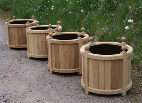 how to make planters how to make wooden flower pots autos post