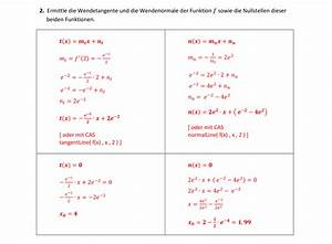 Quadratische Funktionen Nullstellen Berechnen Aufgaben Mit Lösungen : e funktion kurvendiskussion geradengleichungen fl chen ~ Themetempest.com Abrechnung