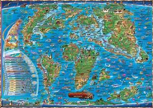 Weltkarte Poster Kinder : poster urzeit weltkarte f r kinder mit dinos 97x137cm ebay ~ Yasmunasinghe.com Haus und Dekorationen