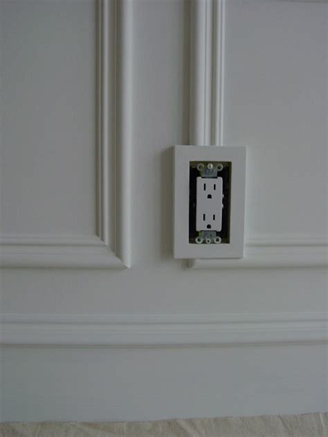 wall frame moldings  electrical outlets  joy