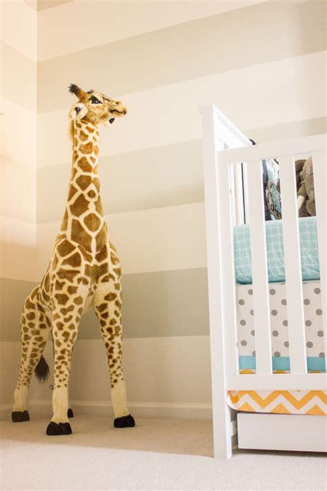 grey aqua giraffe nursery project nursery