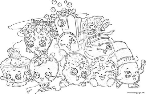 Print shopkins all the family coloring pages Coloring