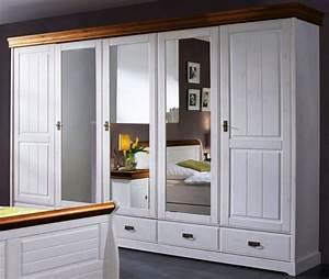 Kleiderschrank Weiß Gebeizt : schrank kleiderschrank 5t rig spiegelt ren schubladen landhausstil kiefer massiv schlafzimmer ~ Watch28wear.com Haus und Dekorationen