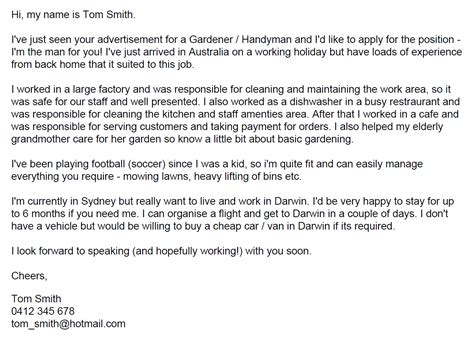 write  cover letter taw