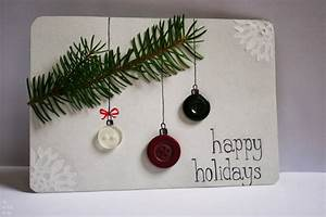 Christbaumkugeln Selber Gestalten : weihnachtskarten selber basteln mit kn pfen 28 tolle ideen ~ Frokenaadalensverden.com Haus und Dekorationen