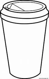 Starbucks Coloring Coffee Mug Cup Printable sketch template