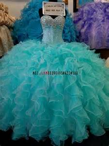 Sweet 15 Dresses Turquoise and Gold