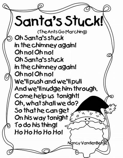 Poems Christmas Santa Grade Stuck Songs Poem