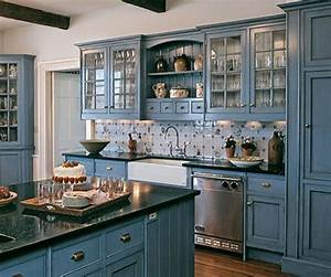 blue milk paint kitchen cabinets natural blue kitchen With kitchens with blue in it