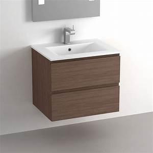 meuble salle de bain noyer obasinccom With meuble salle de bain 60 cm bois