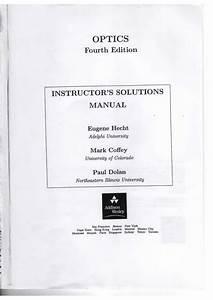 Optics Solution Manual