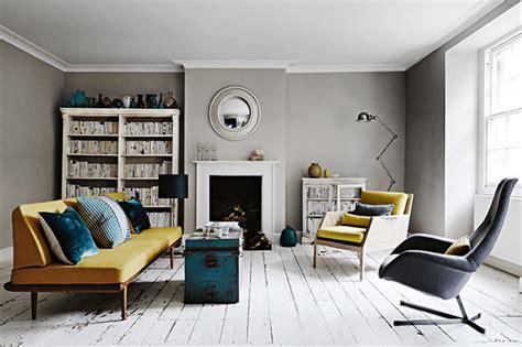 modern retro home design interior inspiration for a georgian home modern greys retro pops of colour