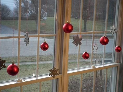 hanging christmas ornaments in window decoration unique window christmas decorations tips to decorate the window luxury busla home