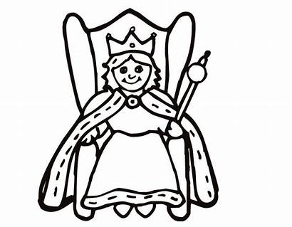 Queen Coloring Pages Queens Kings King Drawing