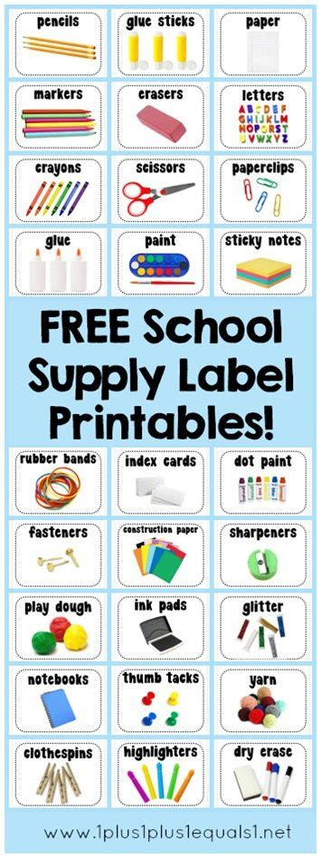 free printable school supply labels homeschool giveaways 855 | School Supply Label Printables