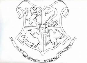 Elegant Hogwarts Crest Coloring Page 67 For Your Coloring ...
