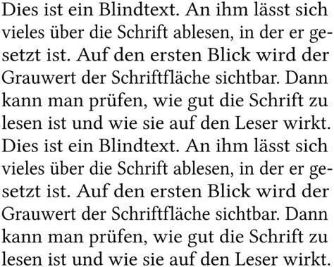 fileblocksatz beispiel deutsch german text sample