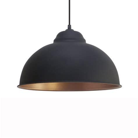 Black Pendant Light by Eglo 49248 Truro 2 Black And Copper 370 Pendant Light