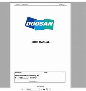 Doosan All Model Full Service Manual Dvd