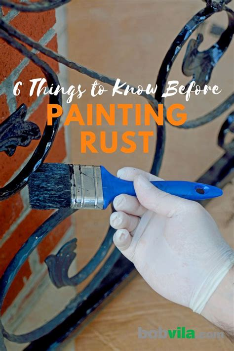 rust painting know things bobvila
