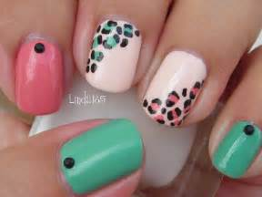 Nail art easy and girly leopard nails decoracion de