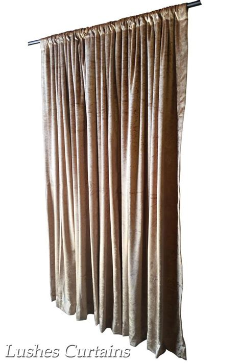 gold velvet curtain 84 inch h panel door room divider