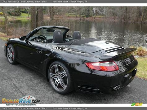 porsche 911 convertible black 2009 porsche 911 turbo cabriolet black black photo 9