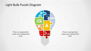 Light Bulb Puzzle Diagram Template For Powerpoint