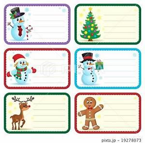christmas name tags collection 1 19278073 pixta With christmas name tag stickers
