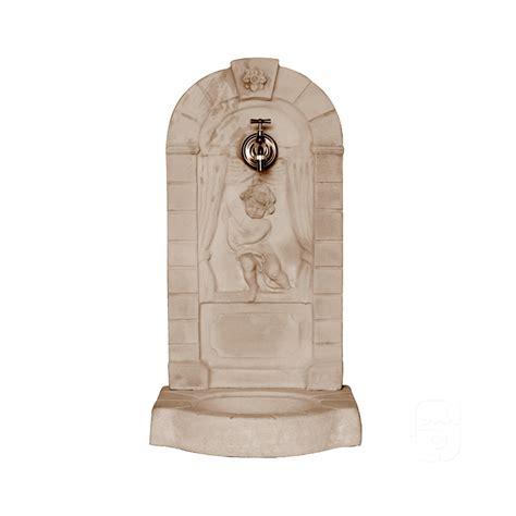 fontaine murale aux angelots vieillie h 82cm jardinoa fr