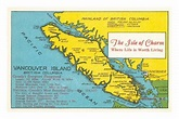 Map of Vancouver Island, British Columbia Posters at ...
