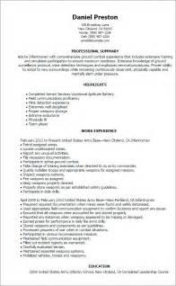 resume exles infantry professional infantryman templates to showcase your talent myperfectresume