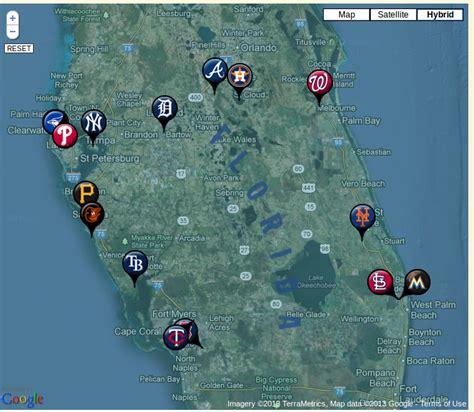 Florida Grapefruit League Map 2014