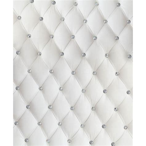 White Tufted by Dazzling White Tufted Printed Backdrop Backdrop Express