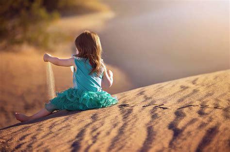 sand, Little, Girl, Desert, Kids, Happy, Play, Joy ...