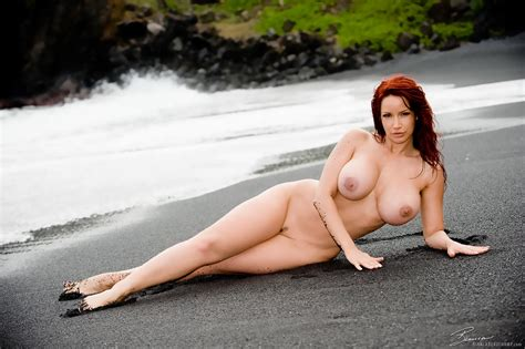 Wallpaper Big Tits Sexy Nude Bianca Beauchamp Boobs Redhead Long Legs Hooters Beach