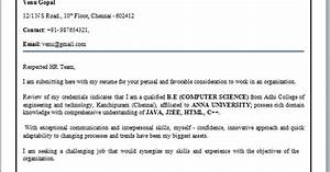Mba Resume Format For Freshers Pdf Cover Letter Format For Freshers