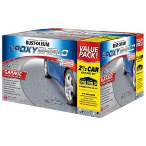 rustoleum garage floor kit home depot rust oleum epoxyshield 2 gal gray 2 part high gloss epoxy