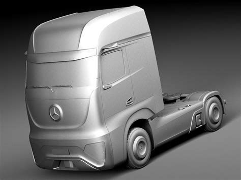 mercedes benz future truck ft 2025 3d model cgstudio
