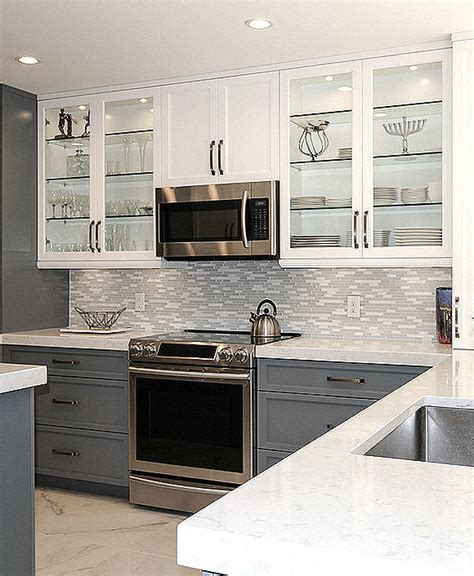 MODERN White Marble Glass Kitchen Backsplash Tile