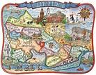 Cambridge Massachusetts Neighborhood Map 11x14 Art